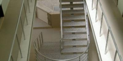 Sahanlıklı Düz Merdivenler